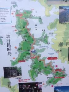 加計呂麻島の地図