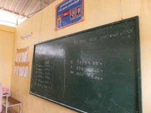 松谷スクールの黒板